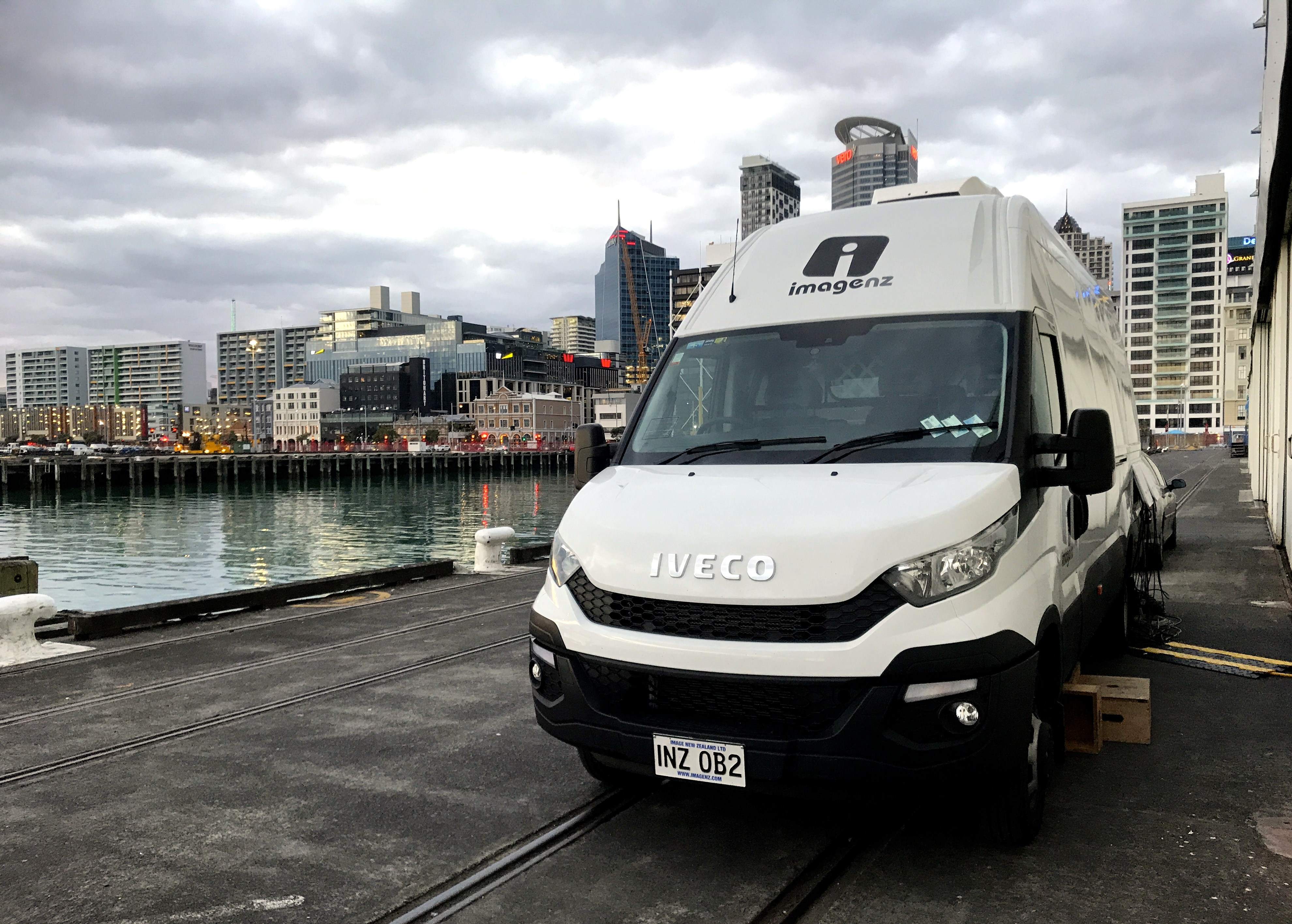 ImageNZ OB Van at SeaPort Festival